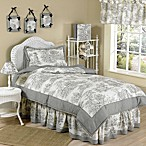 Sweet Jojo Designs French Toile Standard Pillow Sham in Black/Cream