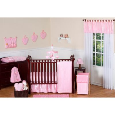 Sweet Jojo Designs Pink Chenille and Satin 11-Piece Crib Bedding Set