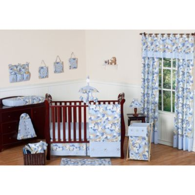 Blue Camo Crib Bedding