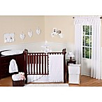 Sweet Jojo Designs Eyelet 11-Piece Crib Bedding Set in White