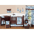Sweet Jojo Designs Geo Crib Bedding Collection in Blue/Brown