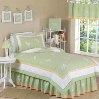 Sweet Jojo Designs Dragonfly Dreams 4-Piece Twin Bedding Set in Green