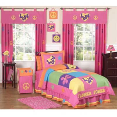 Sweet Jojo Designs Groovy 4-Piece Twin Comforter Set