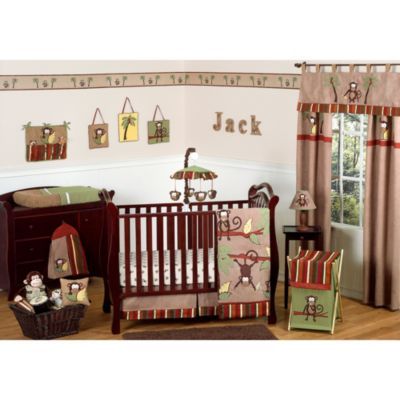 Sweet Jojo Designs Monkey Time 11-Piece Crib Bedding Set