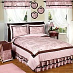 Sweet Jojo Designs French Toile and Polka Dot Bedding Collection in Pink/Brown