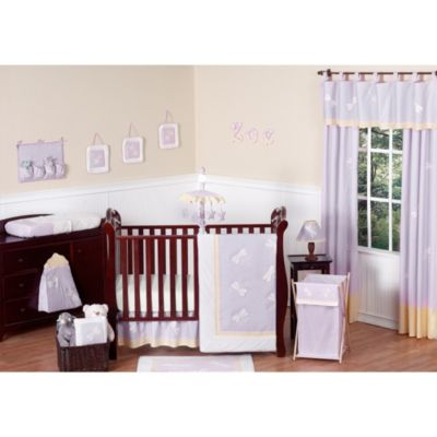 Sweet Jojo Designs Dragonfly Dreams 11-Piece Crib Bedding in Purple