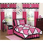 Sweet Jojo Designs Soccer Bedding Collection in Pink