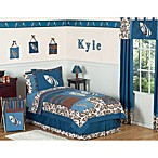 Sweet Jojo Designs Surf Bedding Collection in Blue/Brown