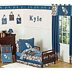 Sweet Jojo Designs 5-Piece Surf Toddler Bedding Set in Blue/Brown