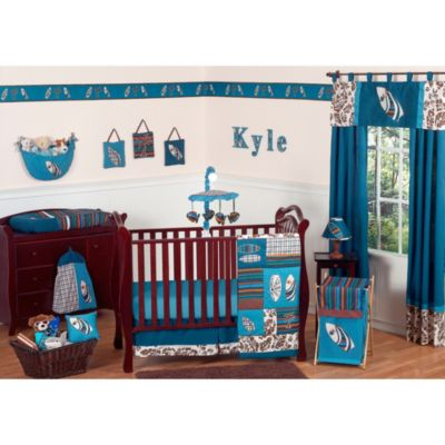 Sweet Jojo Designs Surf 11-Piece Crib Bedding Set in Blue/Brown
