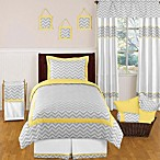 Sweet Jojo Designs Zig Zag Standard Pillow Sham in Grey/Yellow
