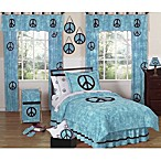 Sweet Jojo Designs Peace Out Bedding Collection in Blue