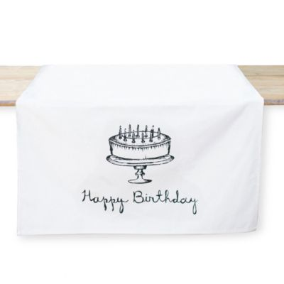Happy Birthday Table Banner