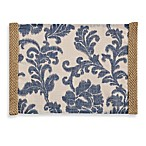 Jute Trim Scroll 14-Inch x 19-Inch Placemat in Blue