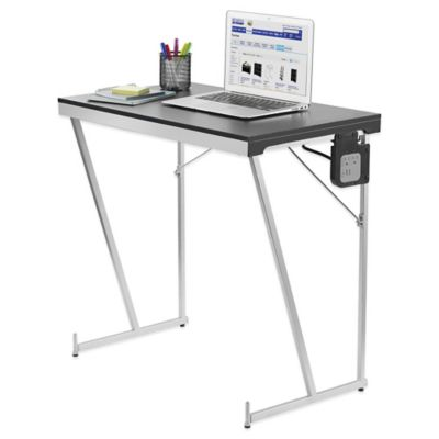 Folding PC Table with Power Work Station