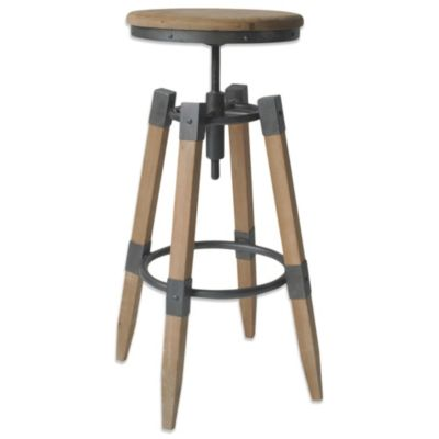 Moe's Home Collection Quad Pod Adjustable Stool in Natural