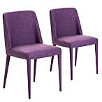 Moe's Home Collection Cork Dining Chair in Purple