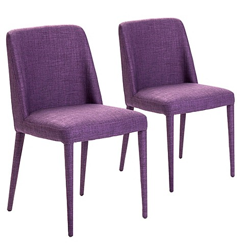 Moe's Home Collection Cork Dining Chairs in Purple (Set of 2)