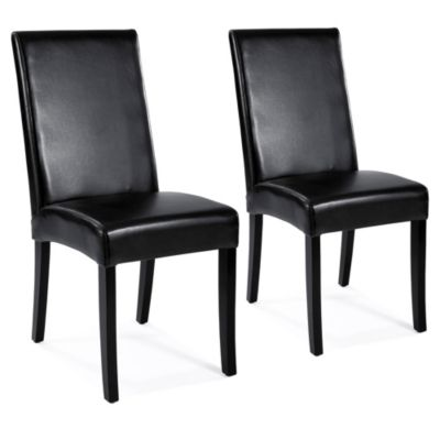 Moe's Home Collection Shantou Side Chairs in Charcoal (Set of 2)