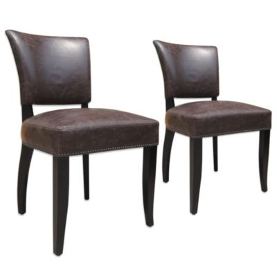 Moe's Home Collection Cannes Side Chairs in Brown (Set of 2)