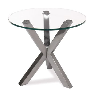 Moe's Home Collection Redondo Glass End Table