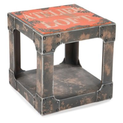 Moe's Home Collection Loft Side Table in Orange