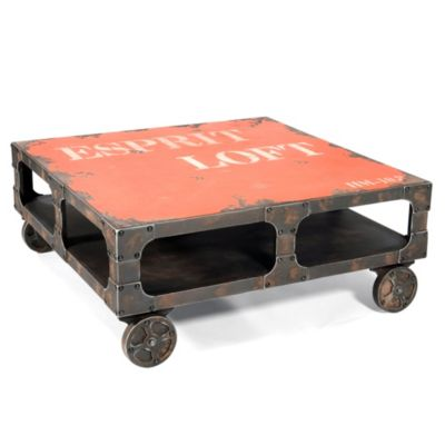 Moe's Home Collection Loft Coffee Table in Orange