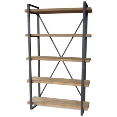 Moe's Home Collection 5-Level Lex Bookshelf in Natural Finish