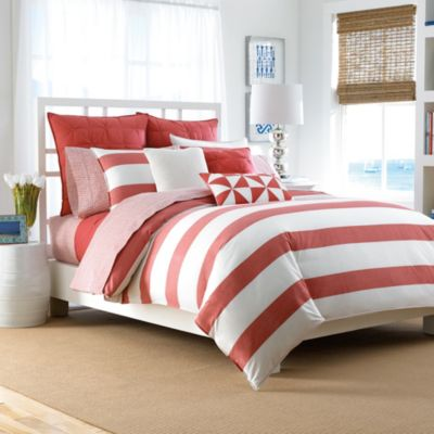 Duvet Covers White and Coral