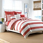 Nautica® Lawndale Reversible Duvet Cover Set in Coral