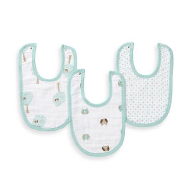 aden® by aden + anais® 3-Pack Little Bib in Goodnight Owl
