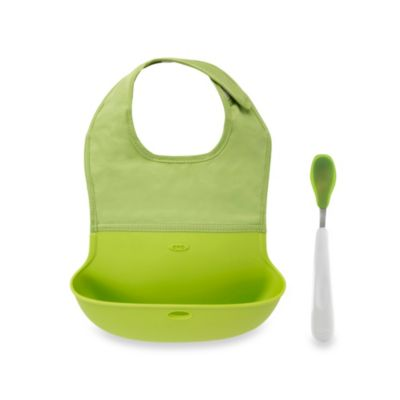 OXO Tot® Roll Up Bib and Spoon Set in Green