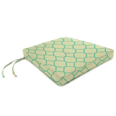 Sunbrella® 17-Inch x 18-1/2-Inch Trapezoid Chair Cushion in Accord Jade