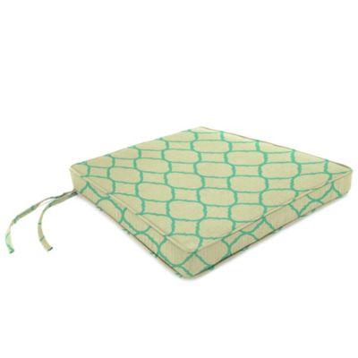 Sunbrella® 18-Inch x 20-1/2-Inch Trapezoid Chair Cushion in Accord Jade
