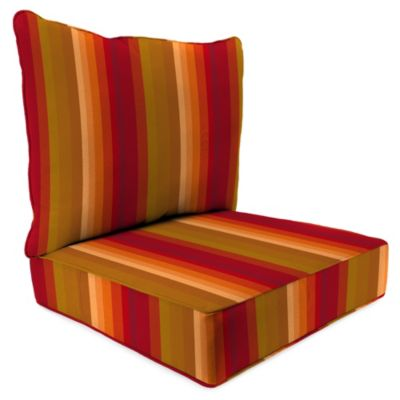 24-Inch x 24-Inch 2-Piece Deep Seat Chair Cushion in Sunbrella® Astoria Sunset
