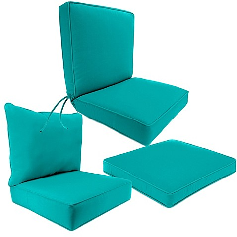 Outdoor Seat Cushion Collection in Sunbrella Canvas Aruba