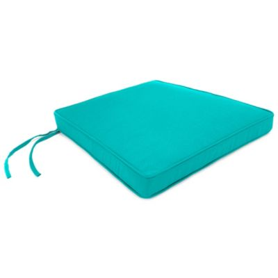 18-Inch x 20-1/2-Inch Trapezoid Chair Cushion in Sunbrella® Canvas Aruba