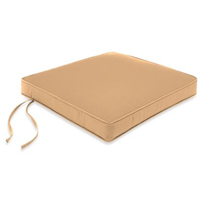 18-Inch Chair Cushion in Canvas Camel