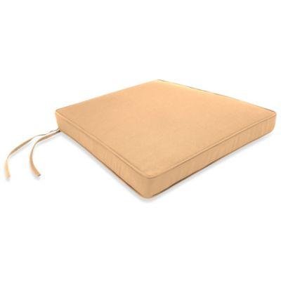 17-Inch x 18-1/2-Inch Trapezoid Chair Cushion in Sunbrella® Canvas Camel