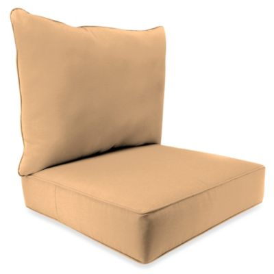 24-Inch x 24-Inch 2-Piece Deep Seat Chair Cushion in Sunbrella® Canvas Camel