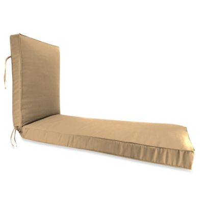 Sunbrella® 68-Inch x 24-Inch Chaise Lounge Cushion in Canvas Camel