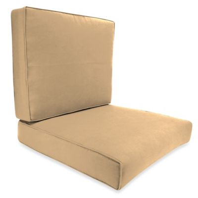45-Inch x 25-Inch 2-Piece Deep Seat Chair Cushion in Sunbrella® Canvas Camel