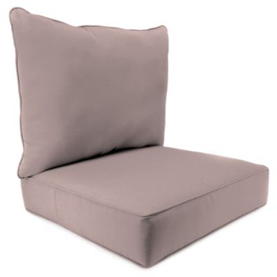 24-Inch x 24-Inch 2-Piece Deep Seat Chair Cushion in Sunbrella® Canvas Dusk