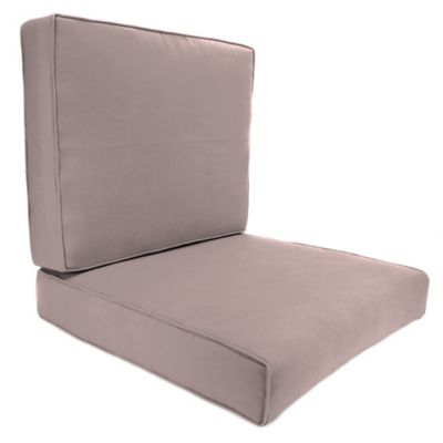 Sunbrella® 45-Inch x 25-Inch 2-Piece Deep Seat Chair Cushion in Canvas Dusk