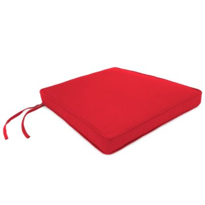 Sunbrella® 17-Inch x 18-1/2-Inch Trapezoid Chair Cushion in Canvas Jockey Red