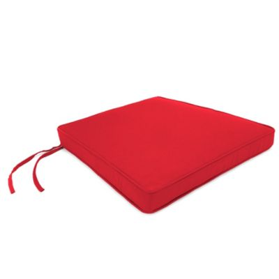 Sunbrella® 18-Inch x 20-1/2-Inch Trapezoid Chair Cushion in Canvas Jockey Red