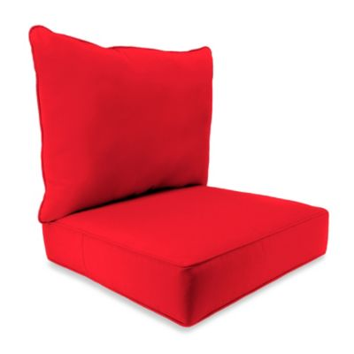 24-Inch x 24-Inch 2-Piece Deep Seat Chair Cushion in Sunbrella® Canvas Jockey Red