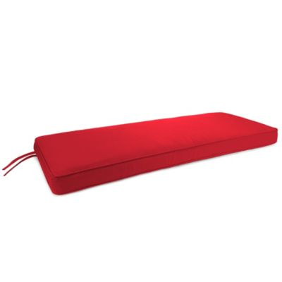 18-Inch x 48-Inch 2-Person Bench Cushion in Sunbrella® Canvas Jockey Red