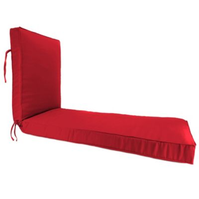 80-Inch x 23-Inch Chaise Lounge Cushion in Sunbrella® Canvas Jockey Red