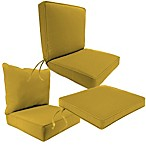 Sunbrella® Outdoor Seat Cushion Collection in Canvas Maize